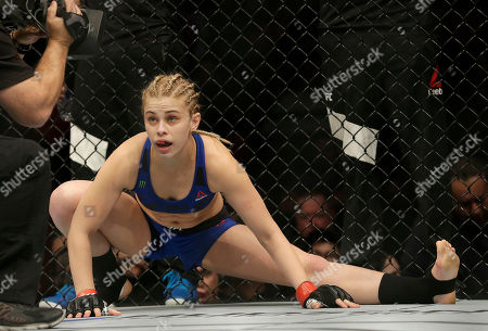 Paige VanZant before fighting Michelle Waterson UFC Fight Night mixed martial arts fight in Sacramento, Calif