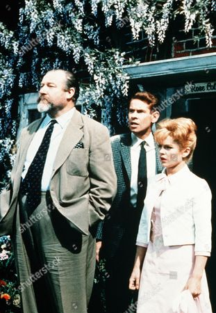 'Father Came Too'  Film - 1964 - Sir Beverly Grant (James Robertson Justice), Dexter Munro (Stanley Baxter) and Juliet Munro (Sally Smith)