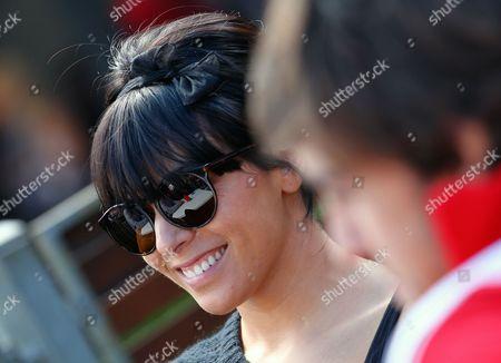 Wife of Spanish Formula One Driver Fernando Alonso Raquel Del Rosario is Seen at Paddock at the Australian Formula 1 Grand Prix at the Albert Park Circuit in Melbourne Australia 27 March 2011 Australia Melbourne