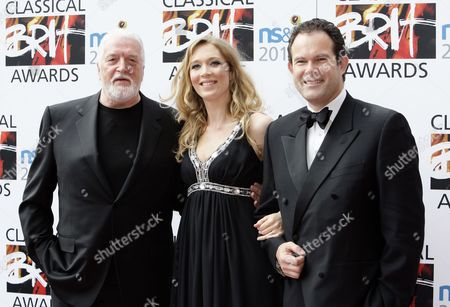 (l-r) Jon Lord Welsh Operatic Soprano Natasha Marsh and Gerald Finley Appear on the Red Carpet at the Classical Brit Awards Held at the Royal Albert Hall London Britain 13 May 2010 United Kingdom London