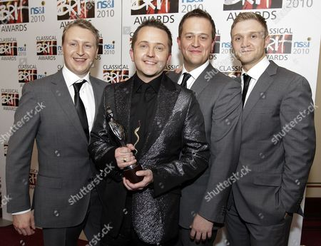 The Members of Only Men Aloud Winners of the Ns&i Album of the Year Award at the Classical Brit Awards Held at the Royal Albert Hall London Great Britain 13 May 2010 United Kingdom London