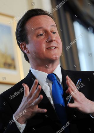 Stock Image of The Leader of Britain's Opposition Conservative Party David Cameron Speaks During a Press Conference in London March 23 2010 Cameron Has Said the 'Scandals' Besetting Labour Are 'Worse' Than Those Which Afflicted the Conservative Government of the Mid-1990s He Called For a Full Government Inquiry Into the Apparent Willingness of Geoff Hoon Stephen Byers and Patricia Hewitt to Help a Lobbying Firm For Cash United Kingdom London