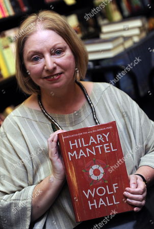 Man Booker Prize For Fiction 2009 Shortlisted Author Hilary Mantel Poses with a Copy of Her Book 'The Wolf Hall' During a Photocall in London Britain 05 October 2009 Also in the Running Are J M Coetzee Sarah Waters a S Byatt Adam Foulds and Simon Mawer the Winner of the Man Booker Prize Will Be Announced at 22 00 Gmt on 06 October United Kingdom London