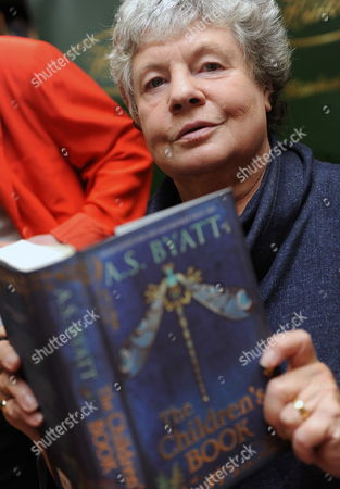 Man Booker Prize For Fiction 2009 Shortlisted Author a S Byatt Poses with a Copy of Her Book 'The Children's Book' During a Photocall in London Britain 05 October 2009 Also in the Running Are J M Coetzee Sarah Waters Hilary Mantel Adam Foulds and Simon Mawer the Winner of the Man Booker Prize Will Be Announced at 22 00 Gmt on 06 October United Kingdom London