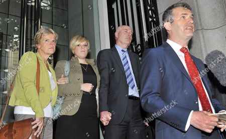 Members of the Milly Dowler Family From Left: Sally Dowler Emma and Bob Dowler Listen As Their Lawyer Mark Lewis (r) Makes a Statement Following a Meeting with the Dowlers and Rupert Murdoch at One Aldwych Hotel in London Britain 15 July 2011 Milly's Parents Are Suing the News of the World Over Claims Their Daughter's Phone was Hacked when She Went Missing in 2002 Reports of Milly Dowler's Phone Being Hacked Kicked Off a Public Outrage Which Has Resulted in the Newspaper's Closure and the Announcement by the Prime Minister of a Public Inquiry Into the Scandal United Kingdom London