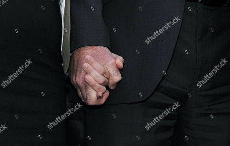 Bob Dowler Holds the Hand of His Daughter Gemma While Their Lawyer of Mark Lewis (not in Picture) Makes a Statement Following a Meeting with the Dowlers and Rupert Murdoch at One Aldwych Hotel in London Britain 15 July 2011 Milly's Parents Are Suing the News of the World Over Claims Their Daughter's Phone was Hacked when She Went Missing in 2002 Reports of Milly Dowler's Phone Being Hacked Kicked Off a Public Outrage Which Has Resulted in the Newspaper's Closure and the Announcement by the Prime Minister of a Public Inquiry Into the Scandal United Kingdom London