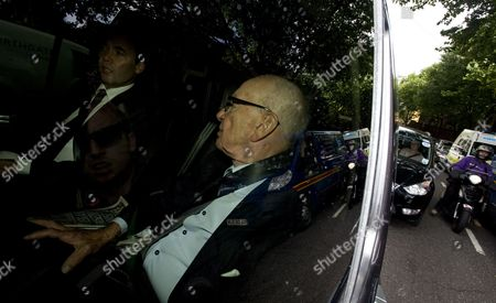 News Corp Chairman Rupert Murdoch (r) with News International Executive Will Lewis Departs News International Headquarters in London Britain 15 July 2011 the Fbi is Investigating Reports That Rupert Murdoch's News Corporation Sought to Hack the Phones of Victims of the 9/11 Attacks Meanwhile Rebekah Broooks Chief Executive of News International Has Resigned the Company Has Confirmed 15 July United Kingdom London