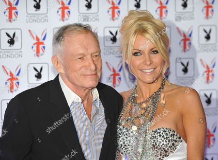 Us Editor-in-chief of Playboy Magazine and Chief Creative Officer of Playboy Enterprises Hugh Hefner (l) and Fiancee Crystal Harris (r) Attend the Playboy Club London Gala Opening Event in Mayfair Central London Britain 04 June 2011 After a 30 Year Hiatus the Glamorous Playboy Club is Set to Return to Mayfair the Iconic Playboy Bunnies Will Be on Hand to Welcome Hugh Hefner and a Host of Celebrities in to the New Premises For an Evening of Gaming and Sophistication United Kingdom London