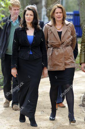 Nigella Lawson and Sarah Brown.