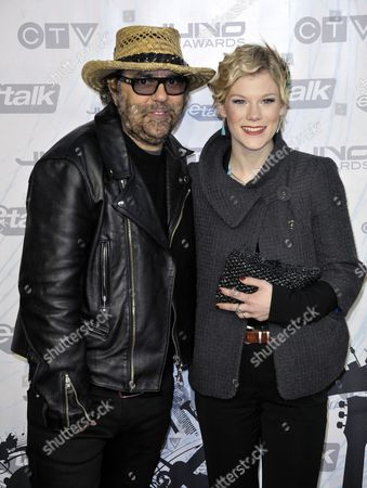 Canadian Producer and Musician Daniel Lanois (l) and Trixie Whitley Arrive on the Red Carpet at the 40th Annual Juno Awards For Canadian Music in Toronto Canada on 27 March 2011 Lanois Won a Juno Award For 'Producer of the Year' Canada Toronto