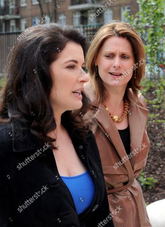 Nigella Lawson and Sarah Brown