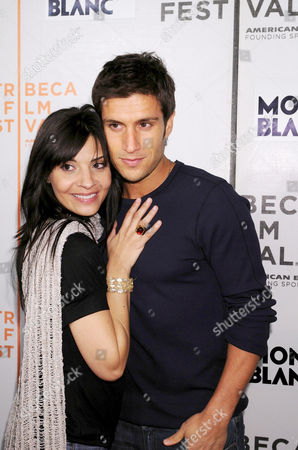 Callie Thorne and Michael Lombardi