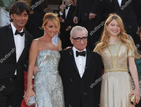 Us Director Martin Scorsese (2-r) Arrives with French Actress Lea Seydoux (r) Ceo of Gucci Patrizio Di Marco (l) and Creative Director of Gucci Frida Giannini (2-l) For the Screening of the Movie 'Wall Street - Money Never Sleeps' During the 63rd Cannes Film Festival in Cannes France 14 May 2010 the Movie by Us Director Oliver Stone is Presented out of Competition at the Cannes Film Festival 2010 Running From 12 to 23 May France Cannes