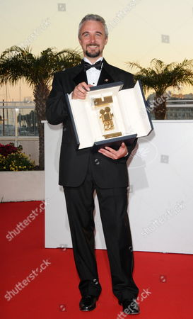 Mexican Director Michael Rowe Poses During a Photocall After He Received the Golden Camera (camera D'or) For His Movie 'Ano Bisiesto' at the 63rd Cannes Film Festival in Cannes France 23 May 2010 France Cannes