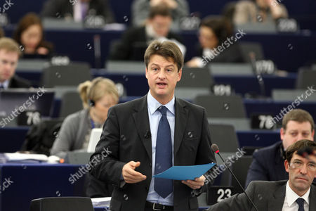 Belgium Secretary of State For Eu Affairs Olivier Chastel Delivers His Speech About the Financial Stability of Euro Area During the Plenary Session at the European Parliament in Strasbourg France 15 D?cember 2009 France Strasbourg