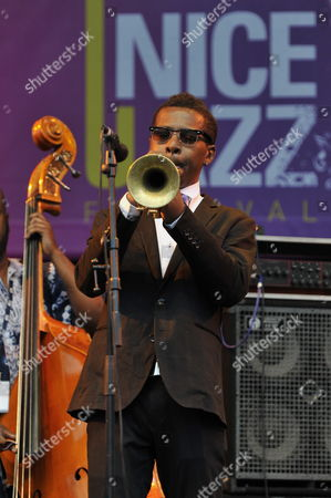 Us Jazz Player Roy Hargrove Performs During the Nice Jazz Festival 2011 in Nice France 12 July 2011 the Festival Takes Place From 08 to 12 July France Nice