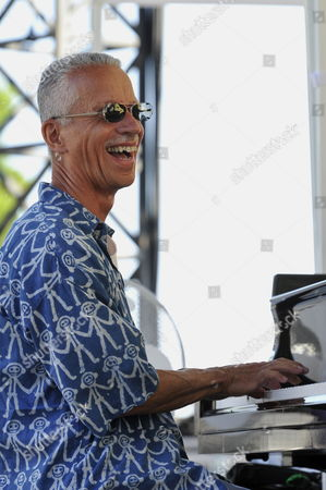 Us Jazz Pianist Keith Jarrett Performs with Bassist Us Gary Peacock (not Pictured) and Us Drummer Jack Dejohnette (not Pictured) During a Rehearsal of the 51st 'Jazz a Juan' Festival in Antibes Juan Les Pins France 16 July 2011 the Festival Takes Place From 14 to 24 July 2011 France Antibes Juan Les Pins