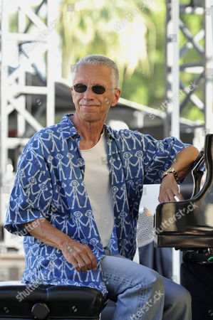 Stock Image of Us Jazz Pianist Keith Jarrett Performs with Us Double-bassist Gary Peacock (not Pictured) and Us Drummer Jack Dejohnette (not Pictured) During a Rehearsal of the 51st 'Jazz a Juan' Festival in Antibes Juan Les Pins France 16 July 2011 the Festival Takes Place From 14 to 24 July 2011 France Antibes Juan Les Pins