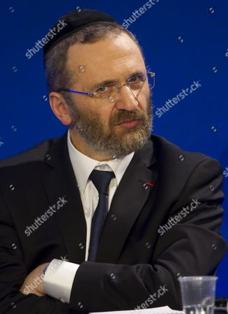 The Great Rabbi of France Gilles Bernheim Attends the Ump Party's Debate on Secularism in Paris France 05 April 2011 France's Ruling Conservative Party Held the Debate to Establish a Framework For the Practice of Islam in French Society - a Debate Which Has Stirred Controversy Across France Forcing the Party to Fend Off Accusations of Bigotry France Paris
