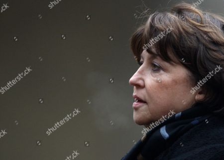 Head of the French Opposition France's Socialist Party Martine Aubry Attends the Church Ceremony For Former French Politician and President of the 'Cour Des Comptes' (france's Public Finance Watchdog Committee) Philippe Seguin During the Funeral Ceremony at Invalides in Paris France 11 January 2010 Seguin Died of a Heart Attack Aged 66 France Paris