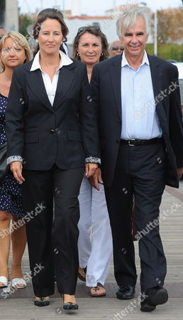 French Socialist Party Opposition Politician Segolene Royal (l) Arrives with Maxime Bono (r) the Mayor of La Rochelle During the Fisrt Day of the Socialist Universite D'ete in La Rochelle France 27 August 2010 France La Rochelle