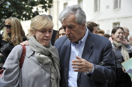 French Movie Director Costa Gavras (r) Speaks with Dominique Semprun (l) Daugther of Late Spanish Author Jorge Semprun During a Ceremony in Homage of Spanish Writer Intellectual and Former Culture Minister Jorge Semprun in Paris France on 11 June 2011 Semprun who Went Into Exile in France Leaving Spain with His Family After the Spanish Civil War Died on 07 June 2011 at His Home in Paris at the Age of 87 Semprun's Funeral Will Be Held Sunday 12 June 2011 As a Close Family Affair in Garantreville Near Paris France Paris