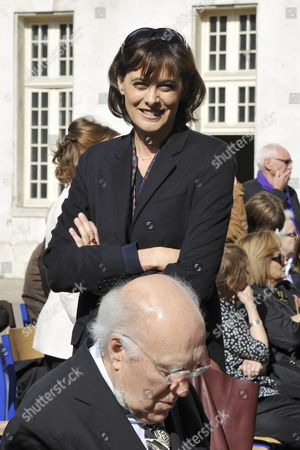 French Designer and Model Ines De La Fressange (behind) and French Actor Michel Piccoli (front) Attend a Ceremony in Homage of Spanish Writer Intellectual and Former Culture Minister Jorge Semprun in Paris France on 11 June 2011 Semprun who Went Into Exile in France Leaving Spain with His Family After the Spanish Civil War Died on 07 June 2011 at His Home in Paris at the Age of 87 Semprun's Funeral Will Be Held Sunday 12 June 2011 As a Close Family Affair in Garantreville Near Paris France Paris