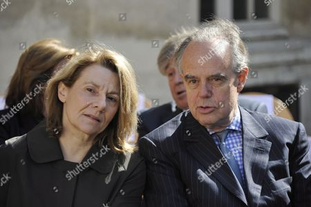French Minister of Culture Frederic Mitterrand (r) and Adviser to the French President Nicolas Sarkozy Catherine Pegard Attend a Ceremony in Homage of Spanish Writer Intellectual and Former Culture Minister Jorge Semprun in Paris France on 11 June 2011 Semprun who Went Into Exile in France Leaving Spain with His Family After the Spanish Civil War Died on 07 June 2011 at His Home in Paris at the Age of 87 Semprun's Funeral Will Be Held Sunday 12 June 2011 As a Close Family Affair in Garantreville Near Paris France Paris