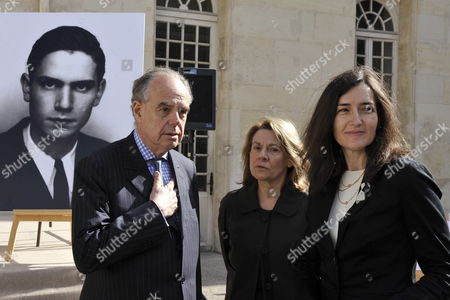Stock Photo of Spanish Culture Minister Angeles Gonzalez-sinde (r) Along with French Minister of Culture Frederic Mitterrand (l) and Adviser to the French President Nicolas Sarkozy Catherine Pegard (c) Attend a Ceremony in Homage of Spanish Writer Intellectual and Former Culture Minister Jorge Semprun in Paris France on 11 June 2011 Semprun who Went Into Exile in France Leaving Spain with His Family After the Spanish Civil War Died on 07 June 2011 at His Home in Paris at the Age of 87 Semprun's Funeral Will Be Held Sunday 12 June 2011 As a Close Family Affair in Garantreville Near Paris France Paris
