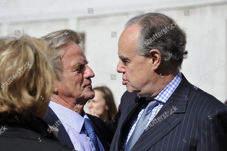 French Minister of Culture Frederic Mitterrand (r) Speaks with Former Foreign Minister Bernard Kouchner Prior to a Ceremony in Homage of Spanish Writer Intellectual and Former Culture Minister Jorge Semprun in Paris France on 11 June 2011 Semprun who Went Into Exile in France Leaving Spain with His Family After the Spanish Civil War Died on 07 June 2011 at His Home in Paris at the Age of 87 Semprun's Funeral Will Be Held Sunday 12 June 2011 As a Close Family Affair in Garantreville Near Paris France Paris