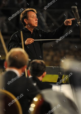 Russian Pianist Composer and Conductor Mikhail Pletnev Conducts the Russian National Orchestra During a Rehearsal For the Opening Concert of the Jubilee 50th Edition of Ohrid Summer Festival at the Antique Theatre in Ohrid the Former Yugoslav Republic of Macedonia on 12 July 2010 on 07 July 2010 Media Reported That the 53-year-old Pletnev was Arrested in Thailand on Child Molestation Charges the Arrest and Charges Were Later Denied by the Local Russian Embassy and Russia's Ministries of Culture and Foreign Affairs Have Taken Steps to Clarify the Situation As a Misunderstanding the Festival's Jubilee Edition Will Offer Numerous Performances of Domestic and Foreign Artists Ensembles Soloists Chamber Structures Theatre and Ballet Plays Macedonia, the Former Yugoslav Republic of Ohrid