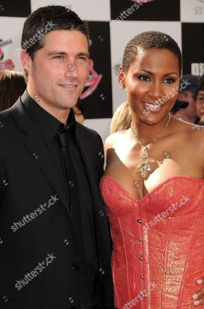 Stock Picture of Matthew Fox and Nayo Wallace