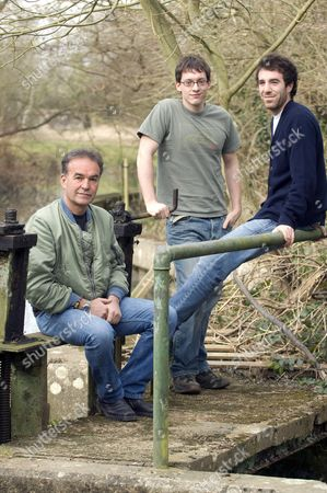 Stock Photo of Nick Broomfield, Marc Hoeferlin and Barney Broomfield.