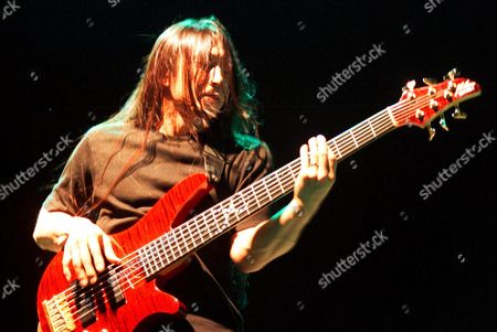 Ffm489 - 20000711 - Athens Greece: John Myung of the Rockgroup Dream Theatre at the Bass Guitar During the Rockwave Festival in Athens on 07 July 2000 Epa Photo/orestis Panagiotou Greece Athens