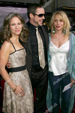 Robert Downey Jnr, his wife Susan Levin and Rosanna Arquette