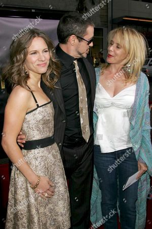 Robert Downey Jnr., his wife Susan Levin and Rosanna Arquette