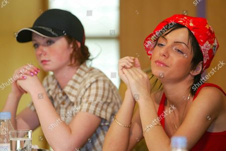 Russian All-girl Teen Pop Duo 'T a T U Julia Volkova (r) and Lena Katina Talk to Media During a Press Conference in a Hotel in Tokyo 29 June 2003 More Than 200 Reporters Throunged Intervied Space the Singers Cancelled a Few of the Planned Television Performances During Their Visit to Japan at the Last Moment Epa Photo/epa/kei Ishida Japan Tokyo
