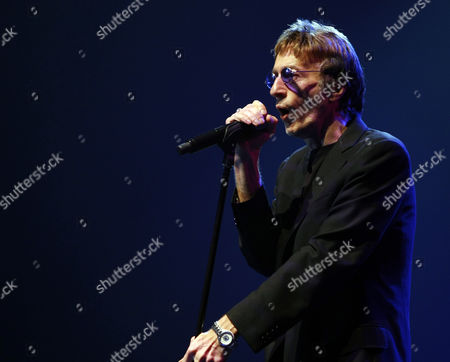 Stock Picture of British Singer and Songwriter Robin Hugh Gibb Performs Onstage at Biel in Downtown Beirut Lebanon 20 November 2010 Lebanon Beirut