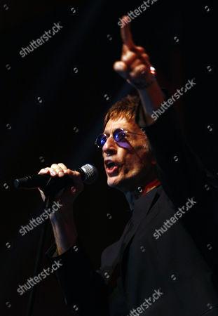Stock Image of British Singer and Songwriter Robin Hugh Gibb Performs Onstage at Biel in Downtown Beirut Lebanon 20 November 2010 Lebanon Beirut