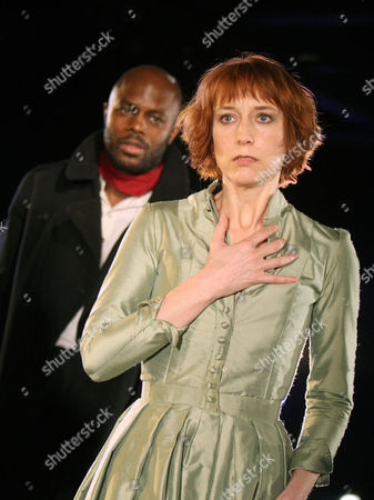 Christopher Obi (The Stranger) and Lia Williams (Ellida)