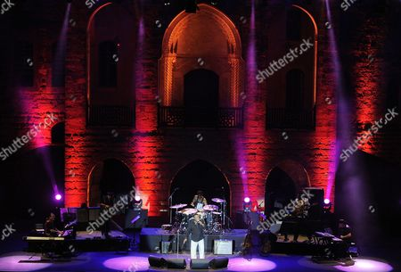Stock Photo of Us Musician Georges Benson (c) Performs During a Concert at the Beiteddine International Festival in Beiteddine Lebanon 19 July 2011 the Beiteddine Festival is an Annual Summer Festival Held at the 200-year-old Beiteddine Palace in the Chouf Mountains This Year's Edition Runs From 24 June to 04 August Lebanon Beiteddine