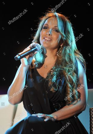 French Singer Helene Segara Performs on Stage During a Concert at Edde Sand's Resort in Byblos (jbeil) North Beirut Lebanon 21 May 2010 Lebanon Byblos