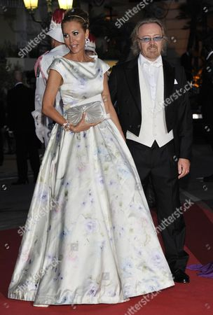 Italian Singer Umberto Tozzi (r) and Guest Arrive For the Official Dinner and the Ball of the Wedding of Prince Albert Ii of Monaco and Princess Charlene at the Opera Garnier in Monaco 02 July 2011 French Chef Alain Ducasse Prepared the Official 450-seat Dinner Held on the Terraces of the Opera House Monaco Monaco