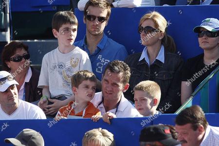 Princess Cristina and Inaki Urdangarín with children Prince Juan and Prince Miguel