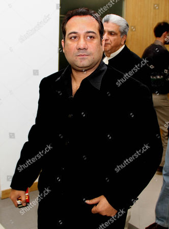 Stock Picture of A Pakistani Singer Rahat Fateh Ali Khan Arrives Attend a Press Conference in Lahore Pakistan on 23 Febuary 2011 Pakistani Singer Rahat Fateh Ali Khan was Detained on 13 February 2011 at the Delhi Airport For Allegedly Carrying Undeclared Foreign Currency Worth More Than 124 000 Us Dollars Officials Said Pakistan Lahore