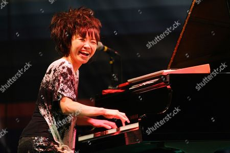A Picture Made Available on 24 July 2011 Shows Japanese Jazz Musician Hiromi Uehara Performing on the Main Stage of the 15th Edition of Garana Jazz Festival 2011 in Garana (wolfsberg) Romania 22 July 2011 Hiromi was Playing in a Formula Called the Trio Project Together with Bassist Anthony Kackson and Drummer Simon Phillips (both Unseen) Garana Jazz Festival is an Open Air Music Festival Taking Place Annually in the Wild Surroundings of Semenic Mountain Foot Western Romania Romania Garana
