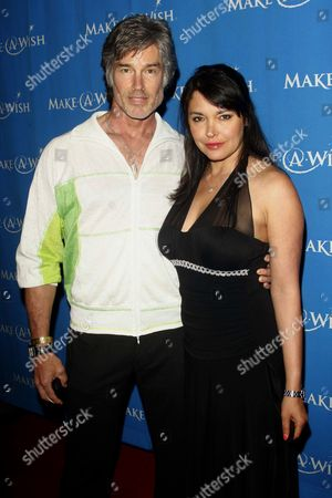 Stock Picture of Ronn Moss and Devin DeVasquez