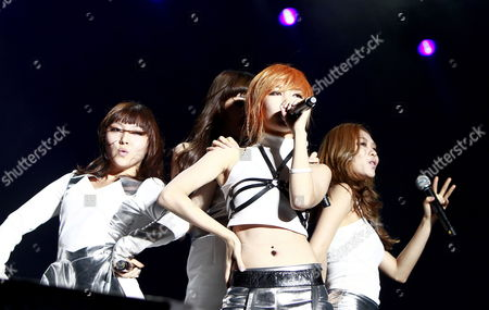Suzy Bae (l-r) Lee Min-young Meng Jia and Wang Fei of South Korea-chinese Girl Group Miss a Perform on the Pentaport Stage During the 2011 Incheon Pentaport Rock Festival in Incheon South Korea 05 Augst 2011 the Festival Runs From 05 to 07 August Korea, Republic of Incheon