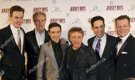 Erich Bergen, Bob Guidio, Rich Faugno, Frankie Valli, Jeff Leibow and Jeremy Kushnier
