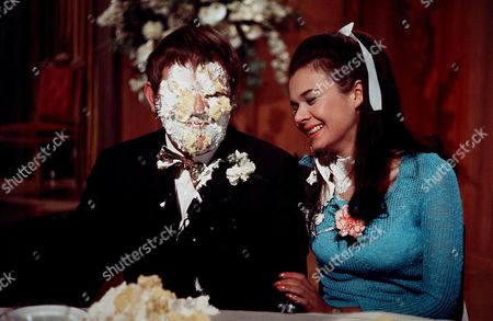 'Carry On Loving'   Film Wedding cake throwing scene, with Terry Scott and Imogen Hassall.